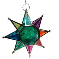 Lantern hanging star multicoloured