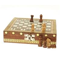 Chess set painted top 16x16cm