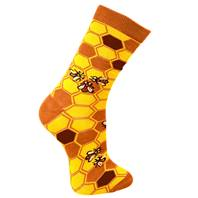 "Bamboo socks, ""save our bees"", Shoe size: UK 3-7, Euro 36-41"