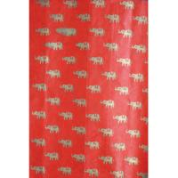 Gift wrap elephant red