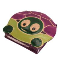 Leather coin purse tortoise