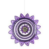 Mobile, sunflower purple, mirrored tiles, 26cm