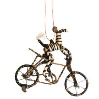 Hanging decoration, zebra on bicycle