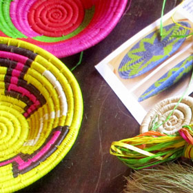 Eco-friendly Raffia Baskets & Mats