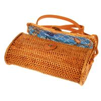 Rattan shoulder bag brown, 20x13x7cm