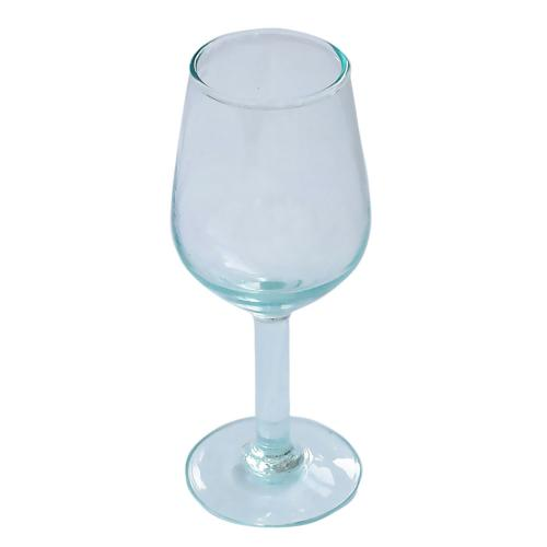Wine glasses recycled glass, 18cm height, set of 2