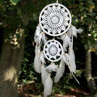 Dreamcatcher crochet 2-tier 60cm length