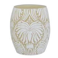 Candle lotus flower white + ivory, 10cm hurricane