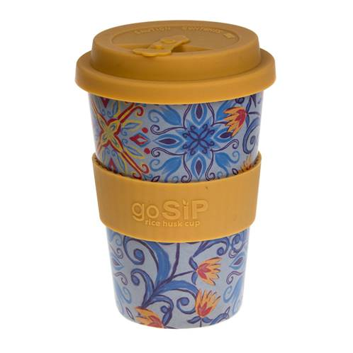 Rice husk cup 14oz, tiles - Marrakesh