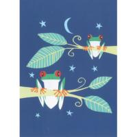 Greetings card tree frogs 17x12.5cm