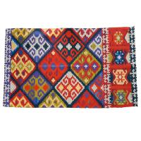 Rug made from recycled plastic 60 x 100cm diamonds multicolour