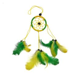 Dreamcatcher yellow & green 6cm