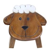 Child's wooden stool - sheep