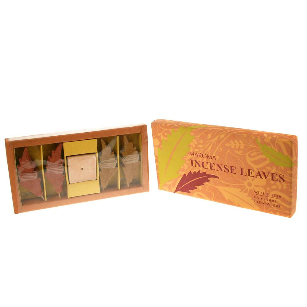 Gift Box Incense Leaves Holder Patchouli Cedarwood