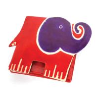 Leather coin purse elephant