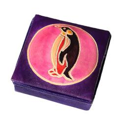 Leather coin penguin