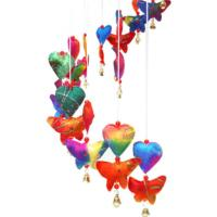 Rainbow Butterflies and Hearts Paper Mobile