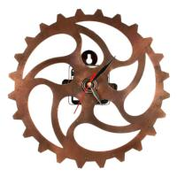 Clock, recycled bike parts
