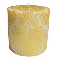 Candle lotus flower gold + white, 7.5cm flat
