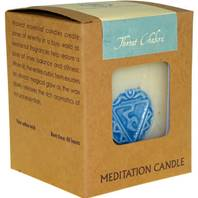 Chakra meditation candle 300g throat
