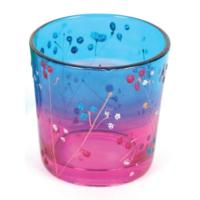Tealight holder glass blue/purple