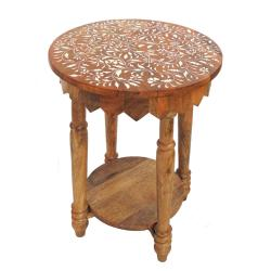 Occasional table, mango wood round