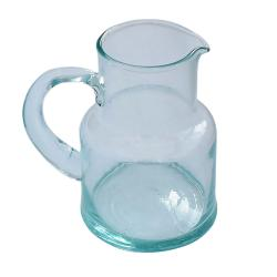 Jug/pitcher recycled glass, 15cm height