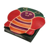 Leather coin purse bee