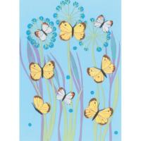 Illustrated greetings card butterflies 17x12.5cm