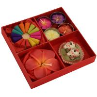 Incense and candle gift set, red box
