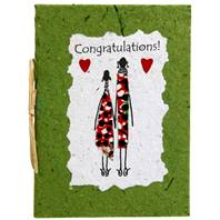 Congratulations card, green