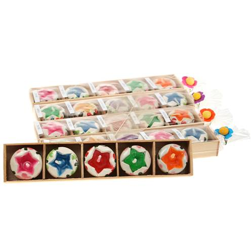 Pack of 5 star candles