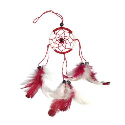 Dreamcatcher red & white 6cm