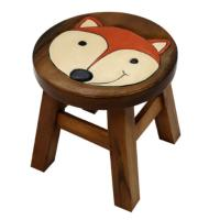 Child's wooden stool - fox
