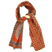 Scarf cotton kantha 45x190cm assorted colours