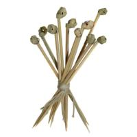 Set of 10 bamboo skewers, knot head