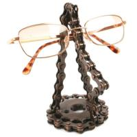 Spectacle stand, recycled bike chain