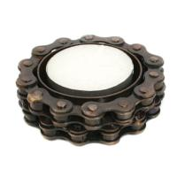 Tealight holder recycled bike chain