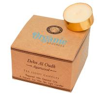 12 t-lite scented candles, Organic Goodness, Dehn Al Oudh Agarwood