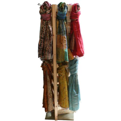 Scarves 64 x CRC1400 with wooden display stand