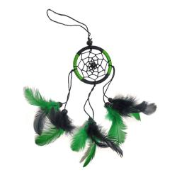 Dreamcatcher green & black 6cm