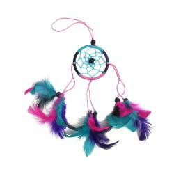 Dreamcatcher pink, turquoise & purple 6cm