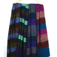 Shawl wool 195x80cm asstd stripes