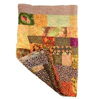 Recycled throw, kantha stitrch 130x180cm assorted