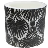 Candle lotus flower black + white, 10cm recessed