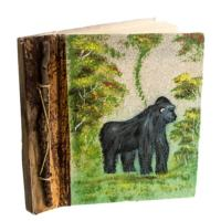 Notebook, sand painting, gorilla