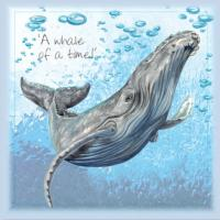 Greetings card, a whale of a time