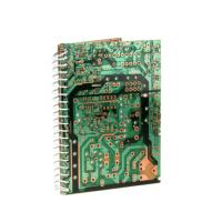 Notebook, recycled circuit board, 12x16.5cm