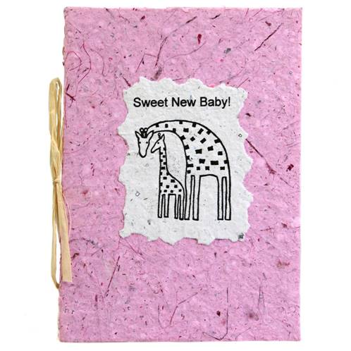 New baby card, pink