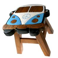 Stool camper van blue